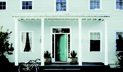 Amoroso house teal door